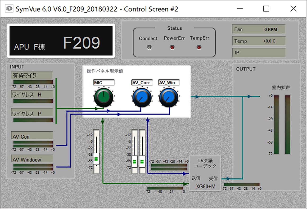 立命館アジア太平洋大学(APU)のSymVue画面